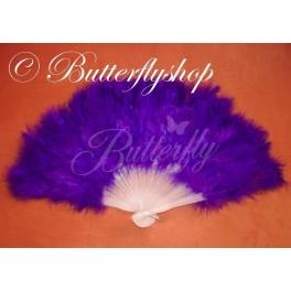 Purpurový vejár z pštrosieho peria