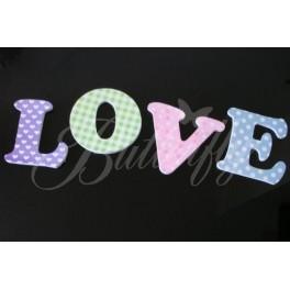 Farebné písmenká LOVE