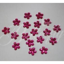 Dekoračné kvetinky - tmavo-ružové 10mm