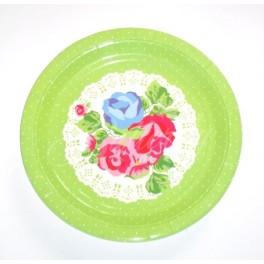 Papierové Vintage tanieriky 4ks