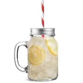 Nápojový pohár s viečkom a slamkou