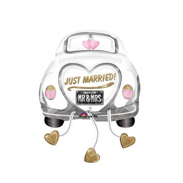 Výzdoba a dekorácie > výzdoba > svadobné auto - fóliový balón