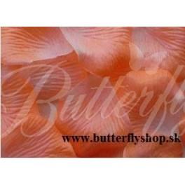Textilné lupene ruží - broskyňové 144ks / pevné