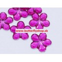Dekoračné kvetinky - tmavo-ružové 1,5cm