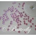 Dekoračné srdiečka - bledo ružové 100ks